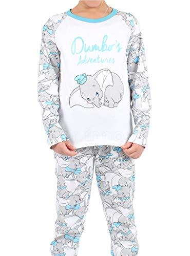 Disney - Pijama Dumbo Unisex Niñas Color: Blanco Talla: 16