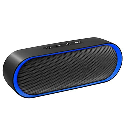 Altavoz Bluetooth 12W, Altavoz Portatil Bluetooth 5.0, 24H de Reproducción, Altavoz Exterior con Micrófono, Altavoces Inalámbrico con AUX/TF, para Móvil, Tabletas, MP3, Fiestas, Viajes, Azul