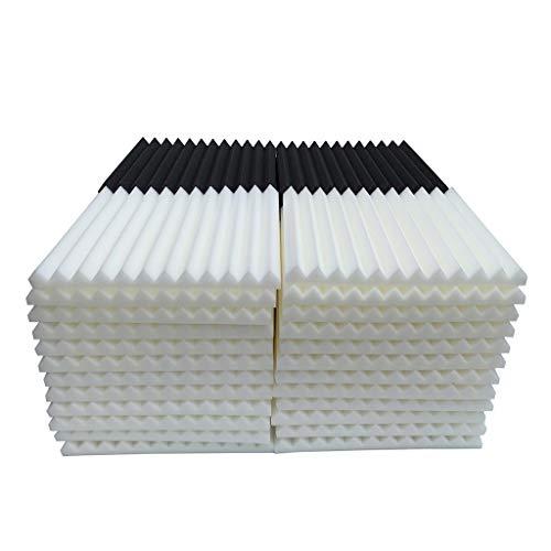 Hukz 48 Stück Akustikschaumstoff Schallschutz Schaum Matte, Keilschaumstoff Schalldämmplatten Soundproof Foam, Noppenschaumstoff Schaum-Fliesen für Zuhause und Studio, 30x30x2.5cm