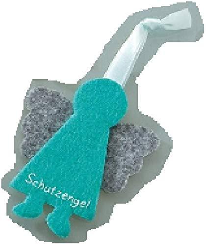 GILDE - 48638 - Schutzengel, Anhänger, Wichtel, Filz, 8cm, blau