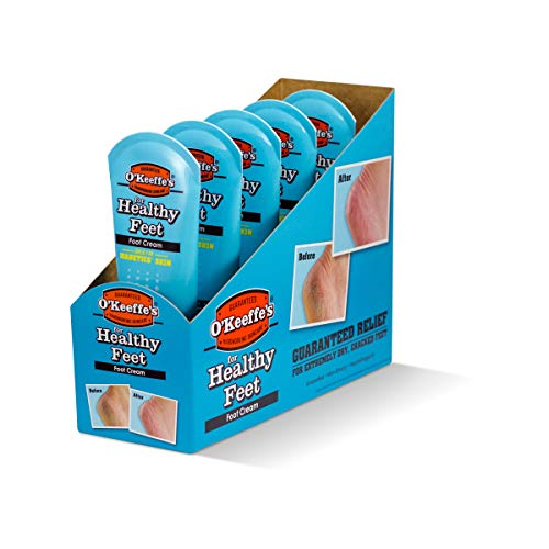 (Pack of 5) O'Keeffe's Healthy Feet Cream for Extremely Dry Cracked Feet 85g 3oz. Tube