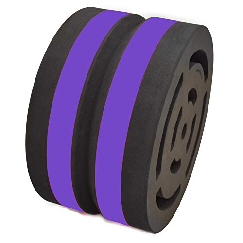 Body Wheel Yoga Wheel for Yoga, Stretching, Fitness, and Relaxation: Designed for Comfort and Versatility (15-inch Purple)