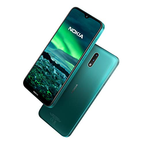 Nokia 2.3 Smartphone 6.2 Inch Android 2 GB RAM 32 GB (Dual-SIM) UK – Cyan Green
