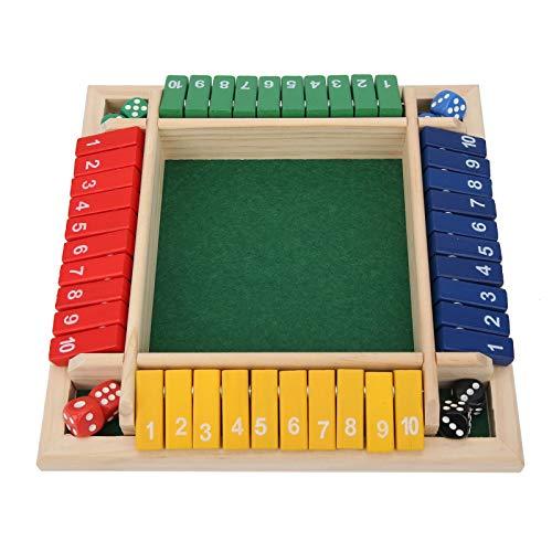 Juego de matemáticas de dados, juego de dados de mesa, entretenimiento de madera duradero para el hogar