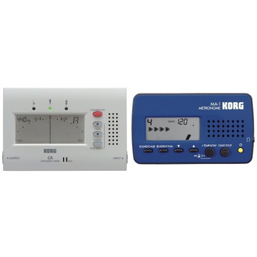 KORG CA-40, Chromatisches Stimmgerät / Tuner + KORG MA-1, Digitales Metronom, schwarz/blau Bundle