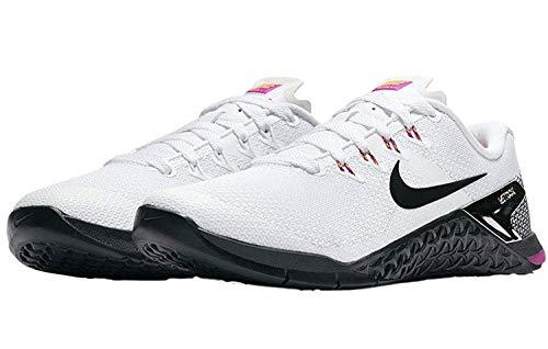 Price comparison product image Nike Women Metcon 4 Training Shoe (11 B US,  White / Black-Fuchsia Blast-Laser Orange)