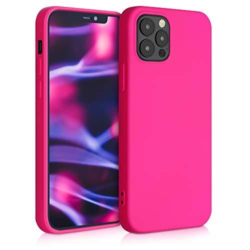 kwmobile Hülle kompatibel mit Apple iPhone 12/12 Pro - Hülle Handy - Handyhülle in Neon Pink