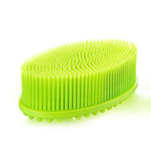 Cepillo de Baño de Silicona, weikin Celulitis Cepillo, Cepillo de Ducha Espalda, Silicona Cepillo de Cuerpo de Doble Cara, Cepillo de Ducha, Cepillo Cuerpo son Adecuadas para Todo Tipo de Piel (Verde)