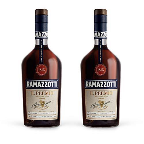 Ramazzotti il Premio Kräuterlikör 2er Set, Blend aus Amaro und Grappa, Premium Kräuterschnaps, Alkohol, Flasche, 35%, 2 x 700 ml