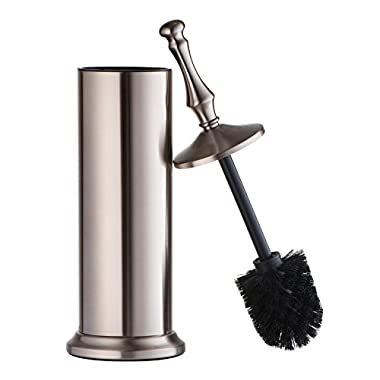 AMG and Enchante Accessories, Toilet Brush and Holder, TB114A SNI, Satin Nickel