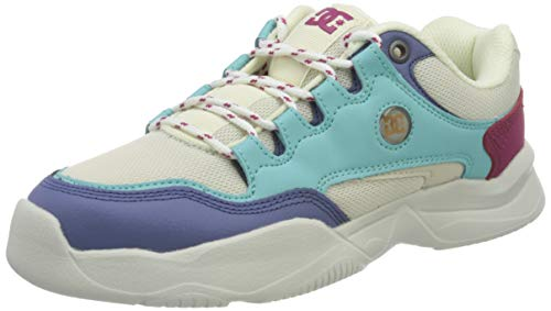 DC Shoes Decel, Zapatillas Mujer, Jade Cream, 43 EU