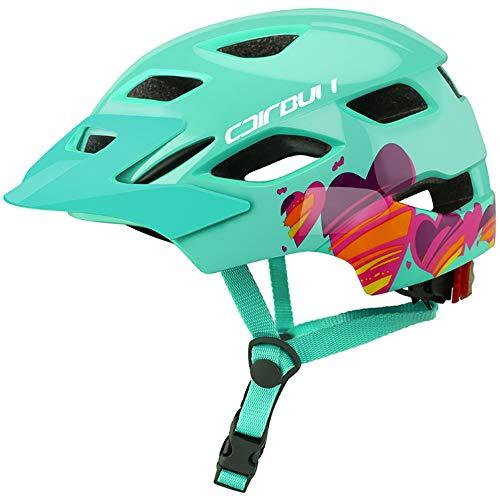 YWZQ Casco de Ciclista, con la luz Trasera seguras Balance Bici del...