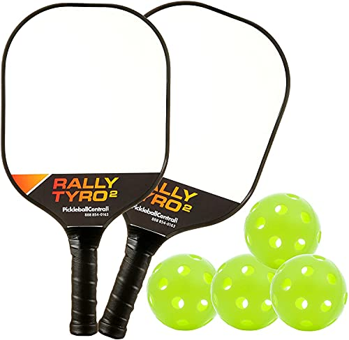 PickleballCentral Rally Tyro 2 Pickleball Paddle Composite Polypropylene Honeycomb Core and...