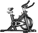 Bicicleta de ejercicio para el hogar Ultra-silencioso para interiores de pérdida de peso, bicicleta de ejercicio de spinning equipo de fitness, color negro