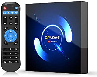 أندرويد 10.0 TV Box ، QPLOVE 4GB RAM 32GB ROM H616 64bit Quad-Core cortex-A53 Ultra HD 6K صندوق تلفزيون ذكي يدعم BT 5.0/وا...