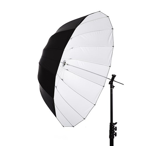 "41"" White Parabolic Umbrella"
