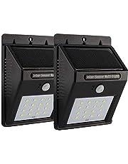 2 × 16 مصباح ليد بجهاز استشعار للحركة يعمل بالطاقة الشمسية