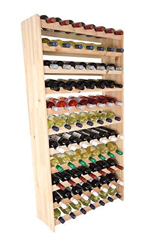 Lenmar Weinregal Weinregal Holz Flaschenregal für 77 Flaschen Massiv-77