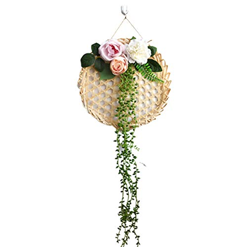WanBeauty Fiore Artificiale Fai-da-Te in bambù A Campana Pendente Pendente Decorazione Soggiorno per La Casa Festa Nuziale Decorazione del Festival B