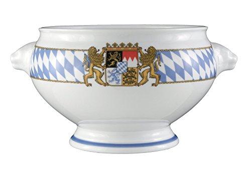 Seltmann Weiden 001.455459 Compact Bayern - Löwenkopfterrine / Terrine / Suppenterrine ohne Deckel - 3,0 l - Porzellan