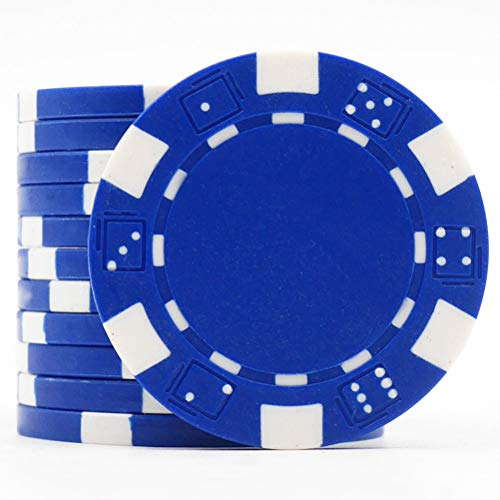 GFPR 11,5 g spielchips, Texas Holdem spielchips, Kein Nennwert Poker Chips für Schachzimmer, Casino, Party, Token, 12 pcs, 40 * 3,4 mm Blue
