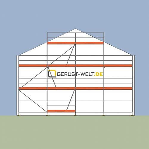 Fassadengerüst Giebelgerüst Paket 60 m² Rux Super 65 Feldlänge 2,5 m ca 6 m Standhöhe