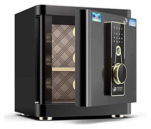 Caja de seguridad electrónica de acero a prueba de fuego Caja fuerte electrónica para el hogar con caja fuerte mediana para oficina en casa Caja fuerte de acero para huellas dactilares Caja fuert