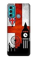JP2979G60 イングランドサッカー England Football Soccer Flag For Motorola Moto G60, G40 Fusion 用ケース
