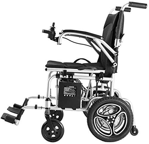 Silla de Ruedas eléctrica Plegable, Silla de ruedas, silla de ruedas 2020 ligera compacta eléctrica plegable, con 6Ah de ion-litio, Silla de ruedas plegable portátil Ultra Poder Presidente scooter mot