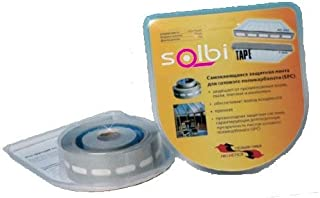 comprar comparacion SOLBI-MURAL Pack Cintas Anti-Polvo y Anti-Humedad para Sellado de Policarbonato Celular, Compuesto por 1 rollo cinta adhes...