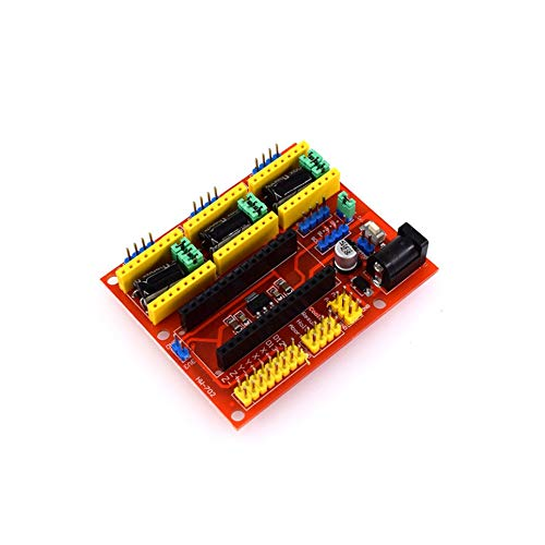 CVBN Controlador de Motor Paso a Paso para máquina de Grabado CNC Shield V4 para Impresora Arduino Nano, Rojo