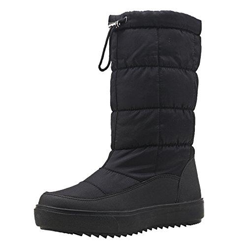 Shenji Zapatos de Mujer de Invierno - Botas de Nieve con Tela Estampada de Nylon...