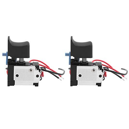 Interruptor eléctrico de control de velocidad de engranaje fijo Interruptor de disparo de herramienta eléctrica de mano multifuncional para taladros manuales eléctricos 7.2-24V 16A DC