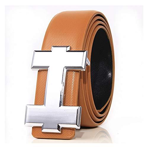 JIEERCUN Women's Belts, Men's Belts, H Buckle,...