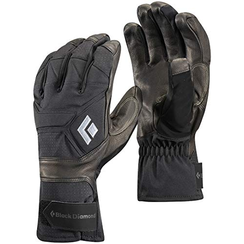 Black Diamond Punisher Handschuhe für eisige Temperaturen / Extrem warmer Winterhandschuh mit Ziegenleder Handfläche und Aufprallschutz / Unisex, Black, Größe: S