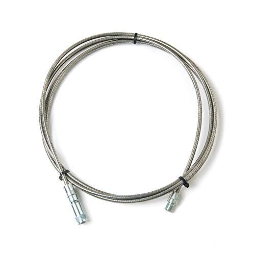 BARETTO Rallonge flexible en acier inox pour kit pour nettoyage du poêle à granulés - Longueur 10 mètres - Adaptée aux poêles à granulés avec des courbes, elle atteint une courbure maximale de 90°
