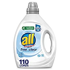 all free clear is the #1 recommended detergent brand by dermatologists, allergists and pediatricians for sensitive skin All free clear removes 99% of top everyday and seasonal allergens dog and cat dander, dust mite matter, ragweed pollen, grass/tree...