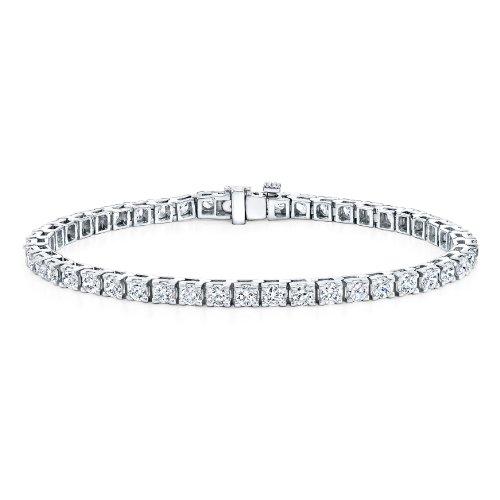 Diamond Wish 14K Gold Round Diamond Tennis Bracelet