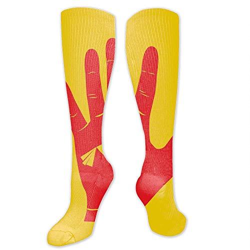 IUBBKI diseño de pintura digital avestruz icono calcetines altos calcetines de fiesta medias para hombres y mujeres
