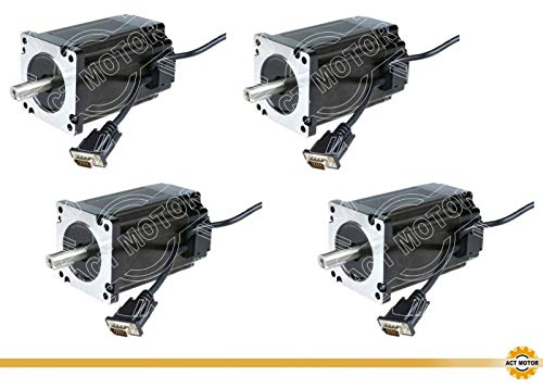 MOTORE ACT GmbH 1pc NEMA 34 Stepper Motor 34hs5460d14l34j5-3-m5 150mm 12nm 6a