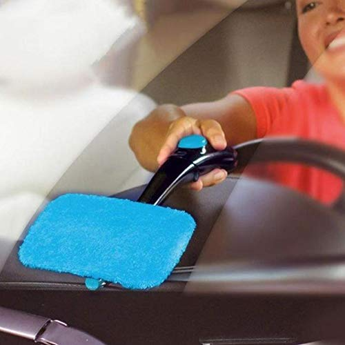 anruo Opvouwbare auto waternevel reinigingsborstel orkaan windscherm roterende mist reinigingsborstel glazen raam auto voorruitreiniger