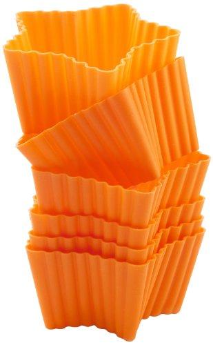 Silikomart 25.423.72.0069 Lot de 6 Moules Forme Etoiles Silicone Orange