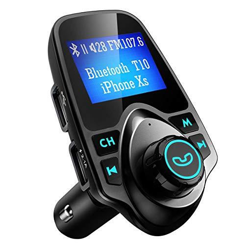 VicTsing Transmetteur FM Bluetooth Ecran de 1.44\