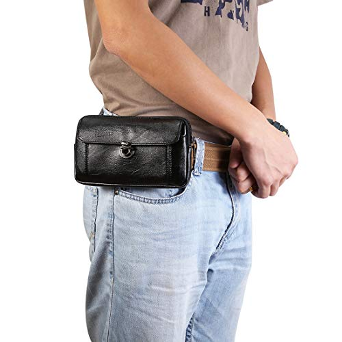 Teléfono clips de cinturón Los hombres bolso de cuero Teléfono Bolsa de cintura, 11 for el iPhone Pro Max, Max XS, 8 más la caja de correa de la pistolera.Para Samsung S20 S7edge + S6edge + A20S, for