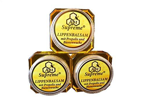 Api Supreme Lippenbalsem mit Propolis und Bienenwachs, 3 x 12 ml