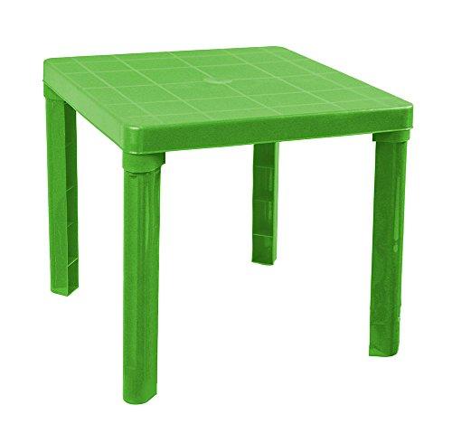 Vetrineinrete Tavolino in plastica colorato per Bambini Tavolo da Gioco per Giardino casa cameretta 45x50 cm Giochi e Giocattoli (Verde) P51