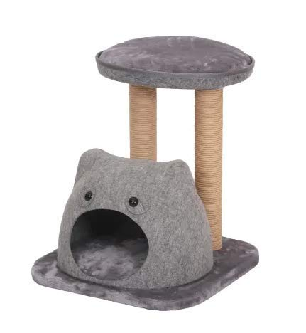 "Mix.Home Two Level Cat Tree with Perches and Condo, 21"" H. Best Choice for Your Pets. Kitty Posts. Cat's Stands. Best Cat Bed & Trees & Condos. Pet's Playground."