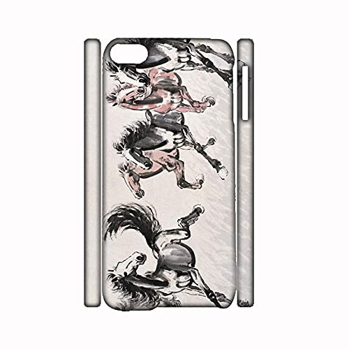 Loveliness Girl with Asian Horse Artists 1 Hard Plastics Phone Cases Compatible for iPod Touch 6