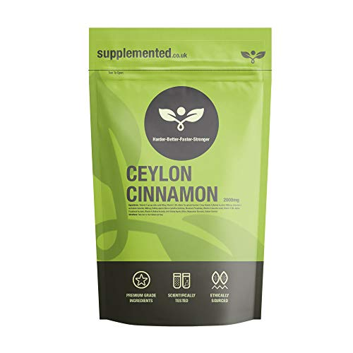 Ceylon Cinnamon 2000mg 180 Tablets UK Made. Pharmaceutical Grade Blood Sugar Supplement