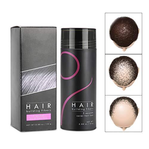 Haarbuilding vezels, 5 kleuren haarpoeder voor haarverdichting, haar, gebouw, vezels, haaruitval, concealer met pomp-spray-applicator verdikt
